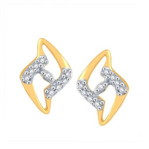 Asmi,Sukkhi,The Jewelbox,Parineeta,Clovia Women's Clothing - Asmi Yellow Gold Diamond Earrings PE16941SI-JK18Y