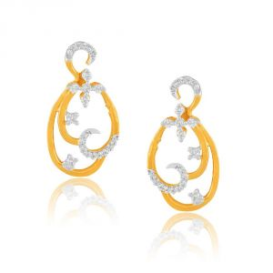 Asmi Yellow Gold Diamond Earrings Ade01444si-jk18y