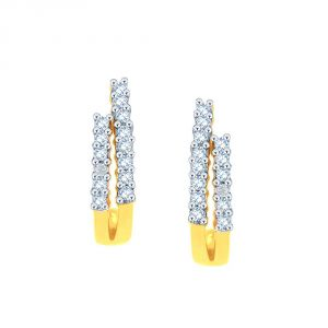 Hoop,Arpera,The Jewelbox,Gili,Bagforever,Triveni Women's Clothing - Gili Yellow Gold Diamond Earrings APSE8064SI-JK18Y