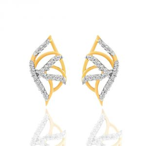 Asmi,Jpearls,Fasense,Sangini Women's Clothing - Asmi Yellow Gold Diamond Earrings BAEP071SI-JK18Y