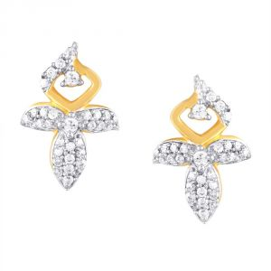 Sangini Yellow Gold Diamond Earrings Baep108si-jk18y