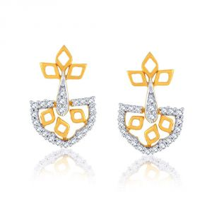 Hoop,Kiara,Oviya,Gili,Fasense,Jagdamba Women's Clothing - Gili Yellow Gold Diamond Earrings BAEP125SI-JK18Y