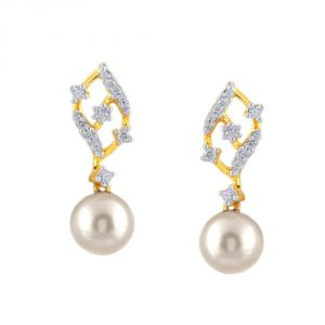 Hoop,Asmi,Kalazone,Tng,Lime,Ag Women's Clothing - Asmi Yellow Gold Diamond Earrings BAEP199SI-JK18Y
