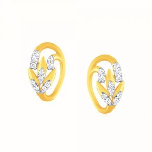Asmi,Sukkhi,Sangini,Lime,Shonaya,Pick Pocket Women's Clothing - Asmi Yellow Gold Diamond Earrings BAEP444SI-JK18Y