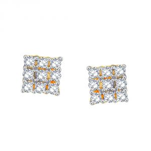 La Intimo,Shonaya,Sangini,Unimod,Lime,Bikaw,Sukkhi Diamond Jewellery - Sangini Yellow Gold Diamond Earrings CE984SI-JK18Y