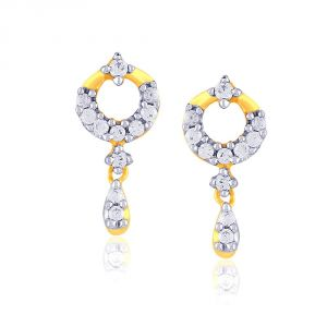 Sangini Yellow Gold Diamond Earrings E24b00160si-jk18y