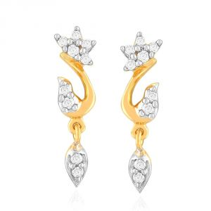 Sangini Yellow Gold Diamond Earrings E24b00200si-jk18y