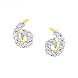 Hoop,Kiara,Oviya,Gili,Fasense,Jagdamba Diamond Jewellery - Gili Yellow Gold Diamond Earrings EE368SI-JK18Y