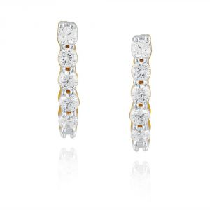 Gili Yellow Gold Diamond Earrings Ee388si-jk18y