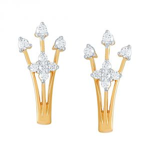 Asmi,Sukkhi,Sangini Women's Clothing - Sangini Yellow Gold Diamond Earrings EE558SI-JK18Y