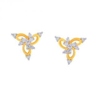 Surat Tex,Soie,Jagdamba,Sangini,Jpearls Women's Clothing - Sangini Yellow Gold Diamond Earrings EE897SI-JK18Y