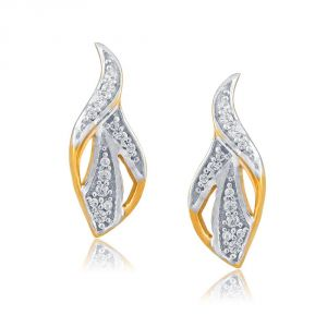 Hoop,Asmi,Tng,Soie Women's Clothing - Asmi Yellow Gold Diamond Earrings FE355SI-JK18Y