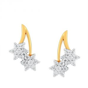 Nakshatra Yellow Gold Diamond Earrings Ge021si-jk18y