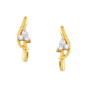 Kiara,Sukkhi,Jharjhar,Fasense,Kalazone,Asmi,Surat Tex Women's Clothing - Asmi Yellow Gold Diamond Earrings GE5998SI-JK18Y