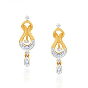 Triveni,My Pac,Sangini,Gili,Mahi,Estoss Women's Clothing - Gili Yellow Gold Diamond Earrings GEK418SI-JK18Y