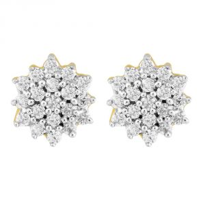 Vipul,Arpera,Clovia,Oviya,Sangini Diamond Jewellery - Sangini Yellow Gold Diamond Earrings GEL103SI-JK18Y