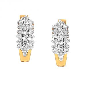 Triveni,La Intimo,Fasense,Gili,Arpera,Jharjhar Women's Clothing - Gili Yellow Gold Diamond Earrings GEL167SI-JK18Y