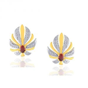 Avsar,Parineeta,Valentine,Kalazone Women's Clothing - Parineeta Yellow Gold Diamond Earrings GEL395SI-JK18Y