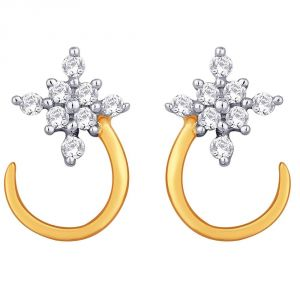 Triveni,My Pac,Sangini,Gili,Mahi,Estoss Women's Clothing - Sangini Yellow Gold Diamond Earrings GIE00018SI-JK18Y