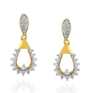 Asmi,Jpearls,Gili Women's Clothing - Gili Yellow Gold Diamond Earrings HIE00163SI-JK18Y