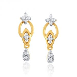 Hoop,Asmi,Kalazone,Tng,Soie,The Jewelbox Diamond Jewellery - Asmi Yellow Gold Diamond Earrings IDE00179SI-JK18Y