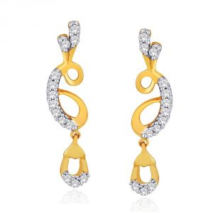 Vipul,Port,Fasense,Triveni,The Jewelbox,Gili,Mahi,Surat Diamonds Diamond Jewellery - Gili Yellow Gold Diamond Earrings IDE00379SI-JK18Y