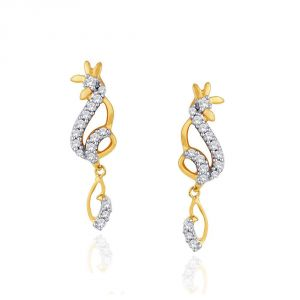 Vipul,Pick Pocket,Kaamastra,Soie,Asmi,Parineeta,Clovia,Estoss,See More Women's Clothing - Asmi Yellow Gold Diamond Earrings IDE00383SI-JK18Y