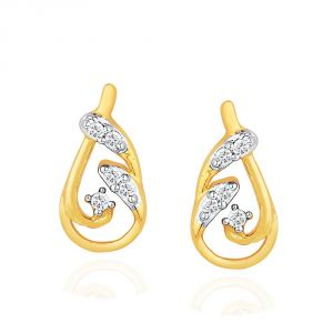 Hoop,Asmi,Sparkles Women's Clothing - Asmi Yellow Gold Diamond Earrings IDE00418SI-JK18Y