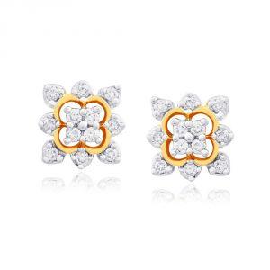 Sangini Women's Clothing - Sangini Yellow Gold Diamond Earrings IDE00474SI-JK18Y