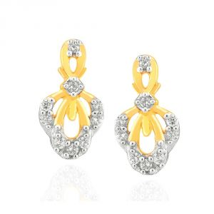 Hoop,Shonaya,Tng,Sangini,Bikaw,Jharjhar Women's Clothing - Sangini Yellow Gold Diamond Earrings IDE00485SI-JK18Y