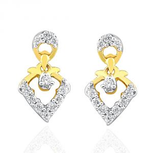 Vipul,Tng,Sangini,Clovia,Shonaya,Bikaw Women's Clothing - Sangini Yellow Gold Diamond Earrings IDE00486SI-JK18Y