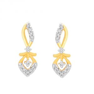 Arpera,Tng,Sangini Women's Clothing - Sangini Yellow Gold Diamond Earrings IDE00667SI-JK18Y