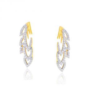 Hoop,Asmi,Kalazone,Lime,Ag,The Jewelbox Women's Clothing - Asmi Yellow Gold Diamond Earrings IDE00668SI-JK18Y