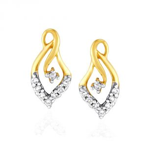 Asmi,Sukkhi,Triveni,Surat Tex,See More,Flora,Bagforever,Lime Diamond Jewellery - Asmi Yellow Gold Diamond Earrings IDE00689SI-JK18Y