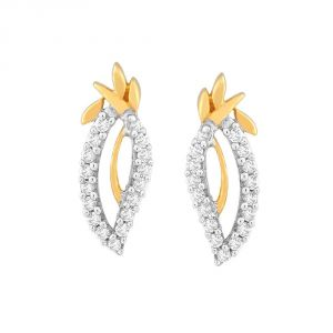 Hoop,Asmi,Kalazone,Unimod,Jpearls,La Intimo Diamond Jewellery - Asmi Yellow Gold Diamond Earrings IDE00704SI-JK18Y