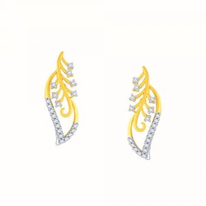 Asmi,Platinum,Kiara Women's Clothing - Asmi Yellow Gold Diamond Earrings IDE00724SI-JK18Y