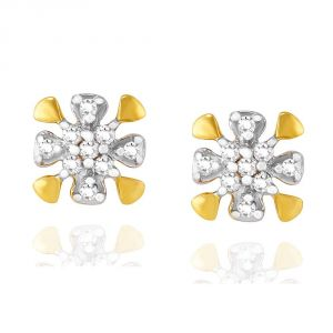 Triveni,Tng,Jagdamba,See More,Kalazone,Bikaw,Sangini Women's Clothing - Sangini Yellow Gold Diamond Earrings IDE00831SI-JK18Y
