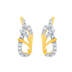 Asmi,Jagdamba,Gili Precious Jewellery - Asmi Yellow Gold Diamond Earrings IDE00924SI-JK18Y
