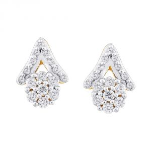 Asmi,Sukkhi,Sangini Women's Clothing - Sangini Yellow Gold Diamond Earrings NERA229SI-JK18Y