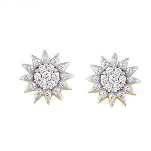 Vipul,Port,Tng,Sangini,Clovia Women's Clothing - Sangini Yellow Gold Diamond Earrings NERA234SI-JK18Y