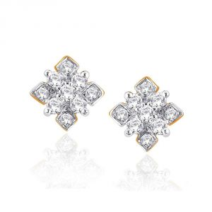 Hoop,Shonaya,Arpera,Tng,Sangini Women's Clothing - Sangini Yellow Gold Diamond Earrings NERA236SI-JK18Y