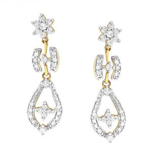 Shuddhi Yellow Gold Diamond Earrings Nerb272si-jk18y