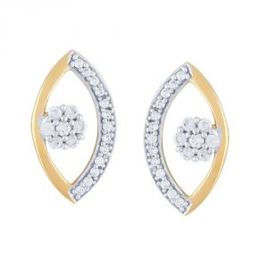 Vipul,Arpera,Clovia,Oviya,Sangini Women's Clothing - Sangini Yellow Gold Diamond Earrings NERC322SI-JK18Y