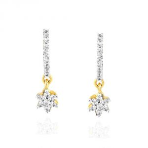Women's Clothing - Nakshatra Yellow Gold Diamond Earrings NERC383SI-JK18Y