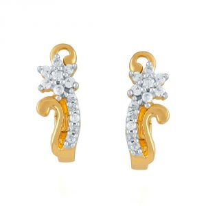 Nakshatra Yellow Gold Diamond Earrings Nerc387si-jk18y