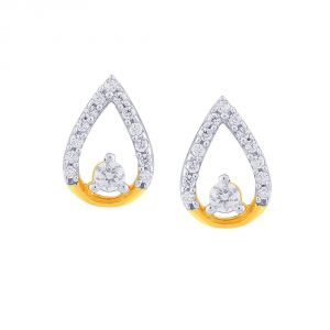 Hoop,Asmi,Kalazone,Tng,Soie Women's Clothing - Asmi Yellow Gold Diamond Earrings NERC602SI-JK18Y