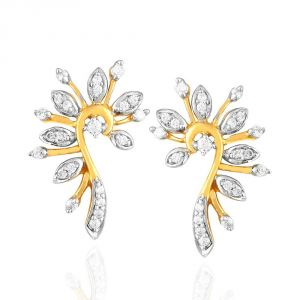La Intimo,Shonaya,Diya,Gili Women's Clothing - Gili Yellow Gold Diamond Earrings OEL692SI-JK18Y