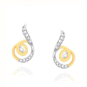 Triveni,Platinum,Jagdamba,Pick Pocket,Surat Diamonds,La Intimo,Kalazone,Gili Women's Clothing - Gili Yellow Gold Diamond Earrings OEL782SI-JK18Y