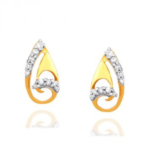 Triveni,My Pac,Sangini,Gili,Mahi,Estoss Women's Clothing - Gili Yellow Gold Diamond Earrings OEM939SI-JK18Y