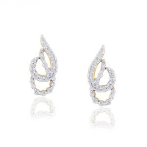 Hoop,Kiara,Oviya,Gili,Fasense,Jagdamba Women's Clothing - Gili Yellow Gold Diamond Earrings OEP211SI-JK18Y